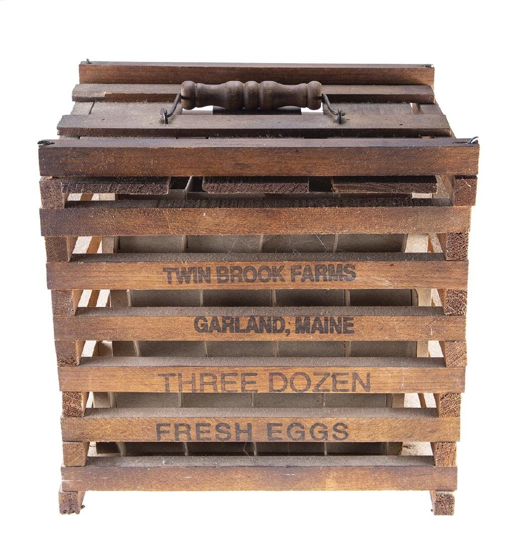 Vintage Wooden Egg Crate from Twin Brook Farms