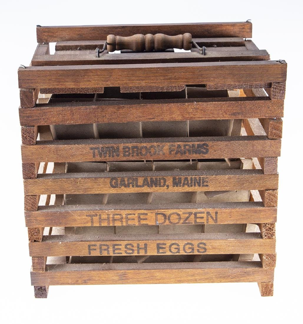 Vintage Wooden Egg Crate from Twin Brook Farms - 3