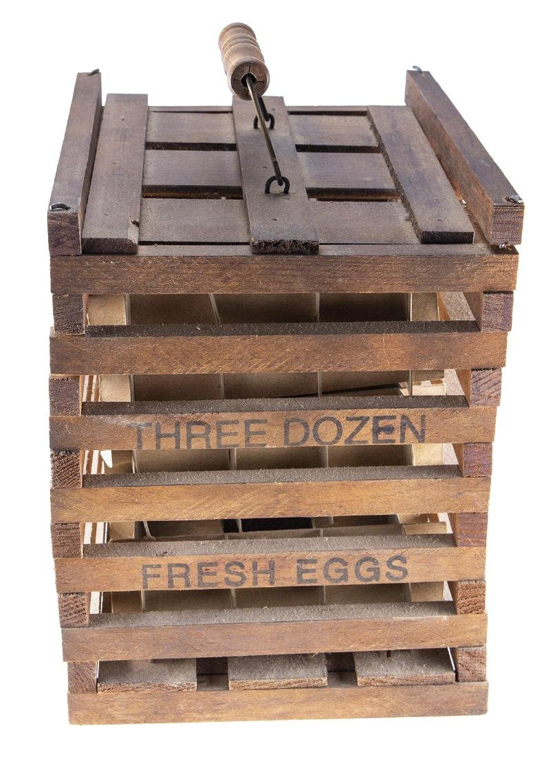 Vintage Wooden Egg Crate from Twin Brook Farms - 4