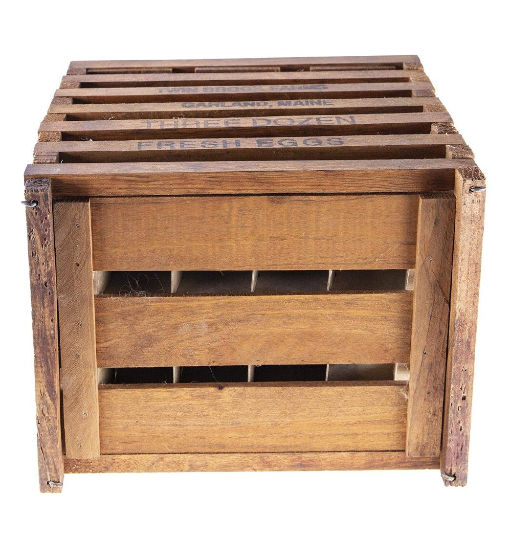 Vintage Wooden Egg Crate from Twin Brook Farms - 5