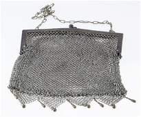 German Silver Vintage Mesh Purse.