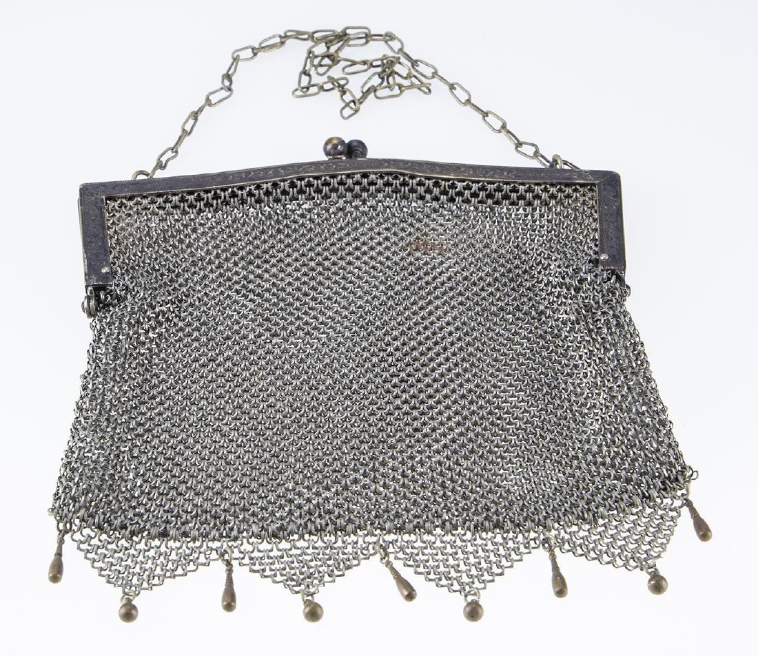 German Silver Vintage Mesh Purse. - 2
