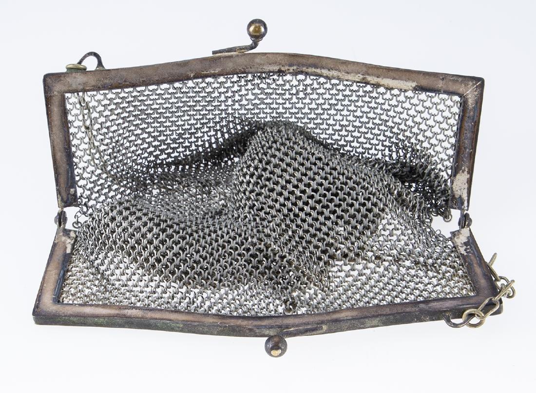 German Silver Vintage Mesh Purse. - 3