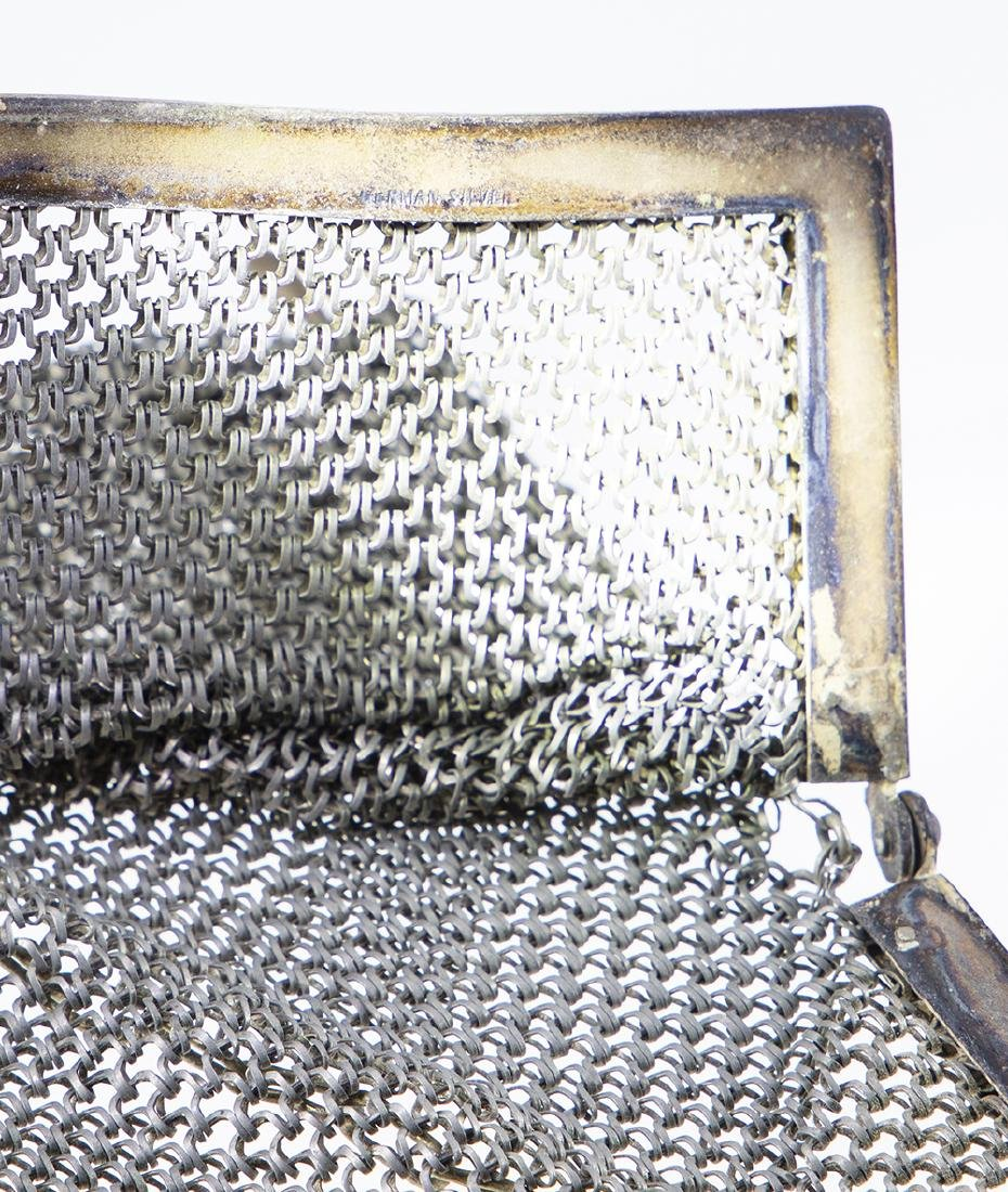 German Silver Vintage Mesh Purse. - 4