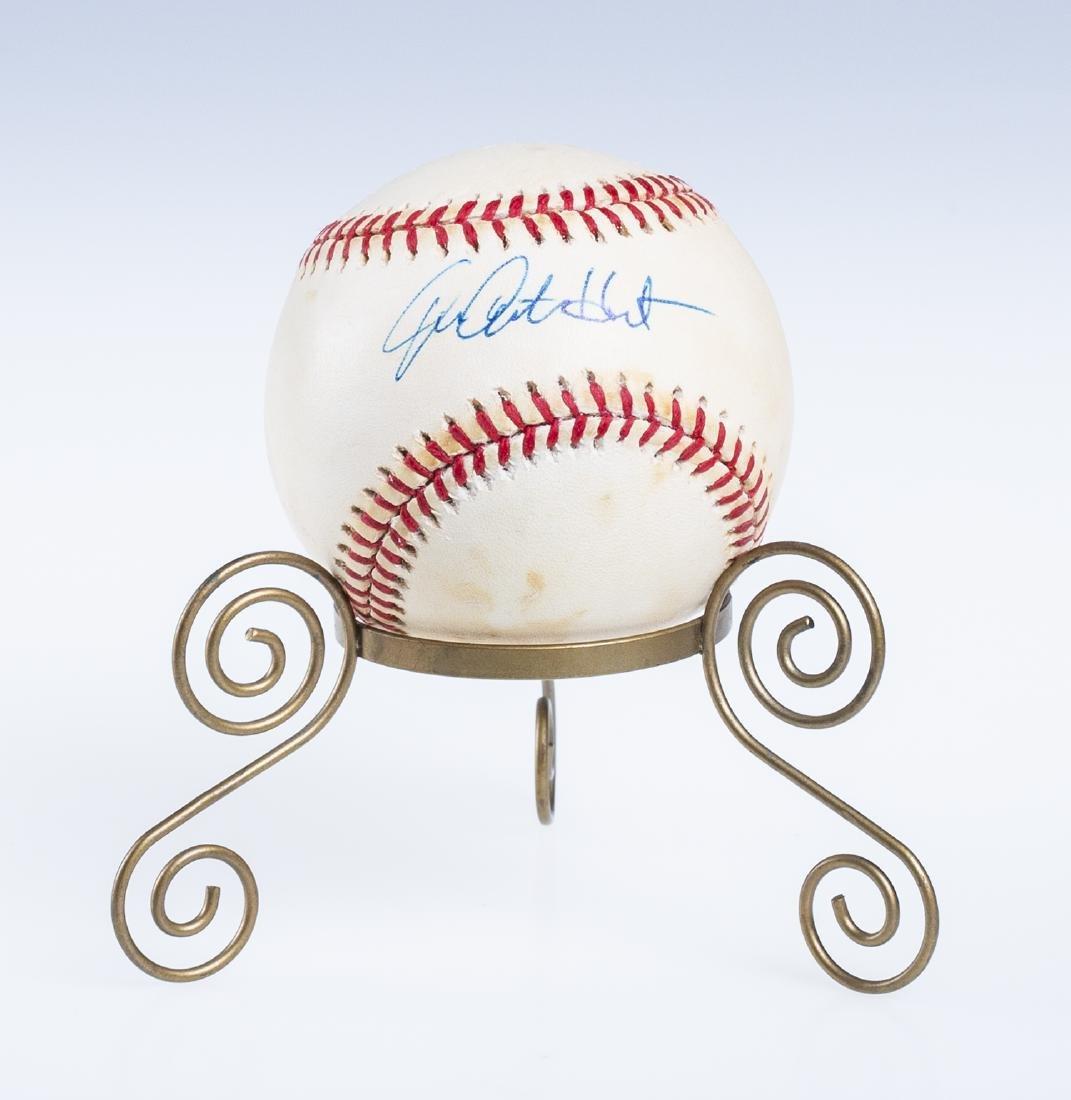 Catfish Hunter Signed Baseball
