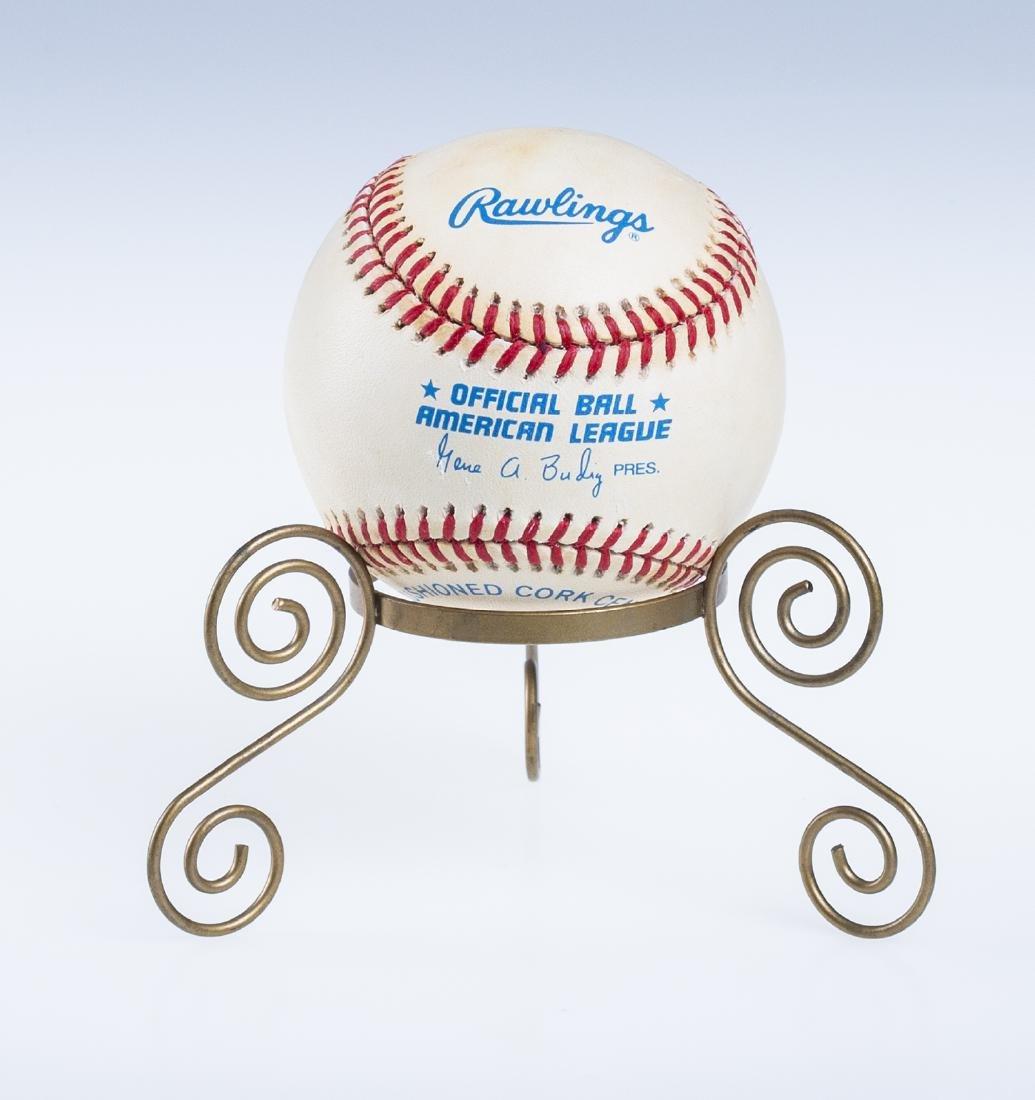 Catfish Hunter Signed Baseball - 2