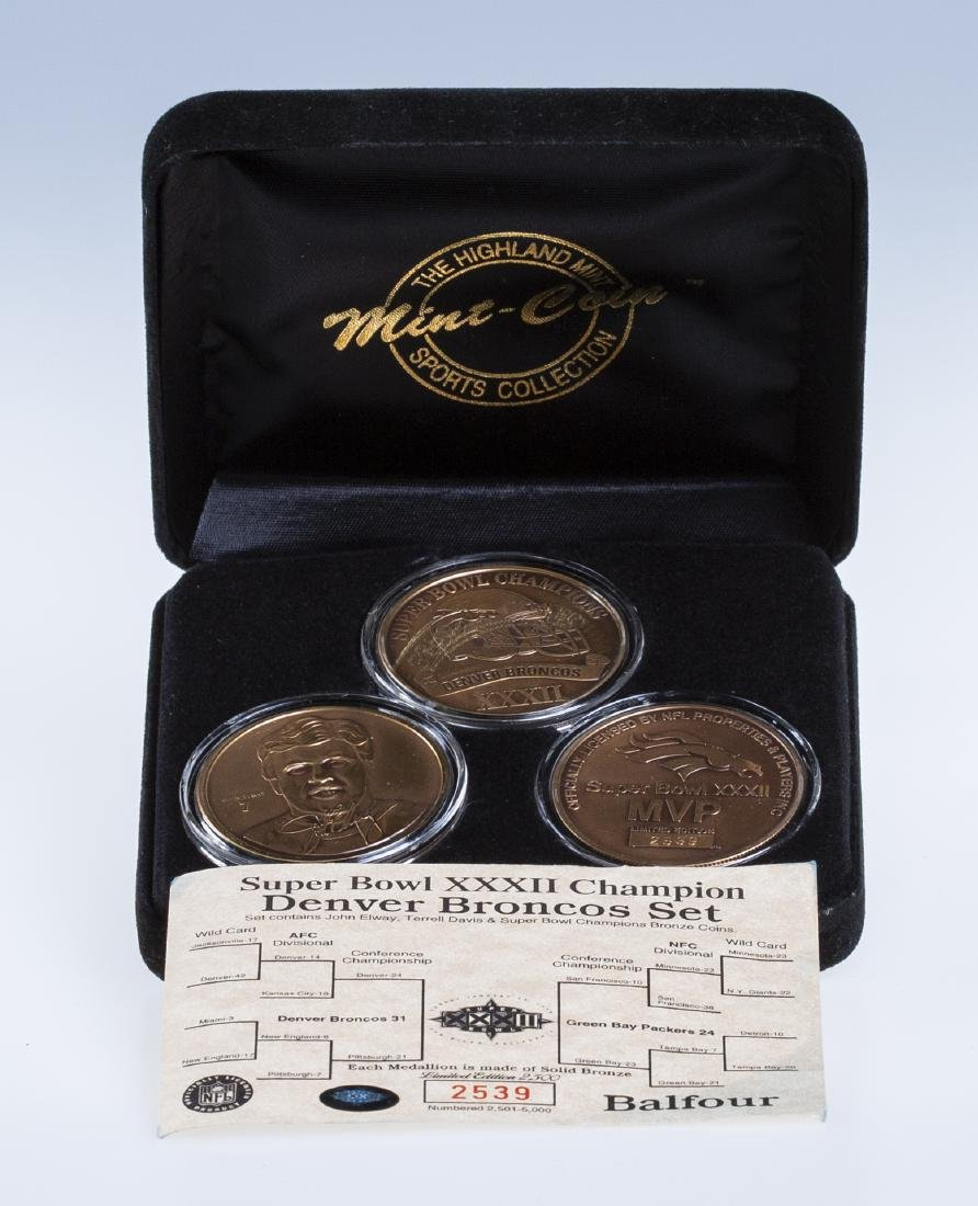 Super Bowl XXXII Dever Bronco Coin Set