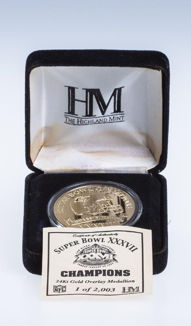 Super Bowl XXXVII Tampa Buccaneers Coin