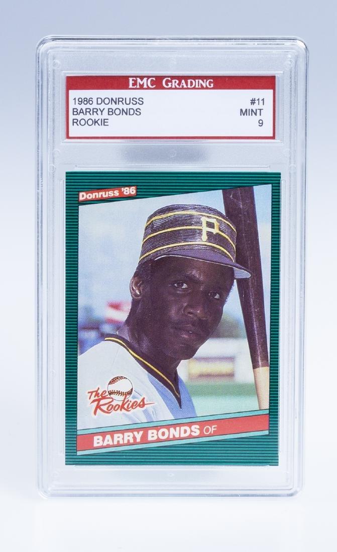 Barry Bonds 1986 Donruss Rookie Baseball Card (Graded)