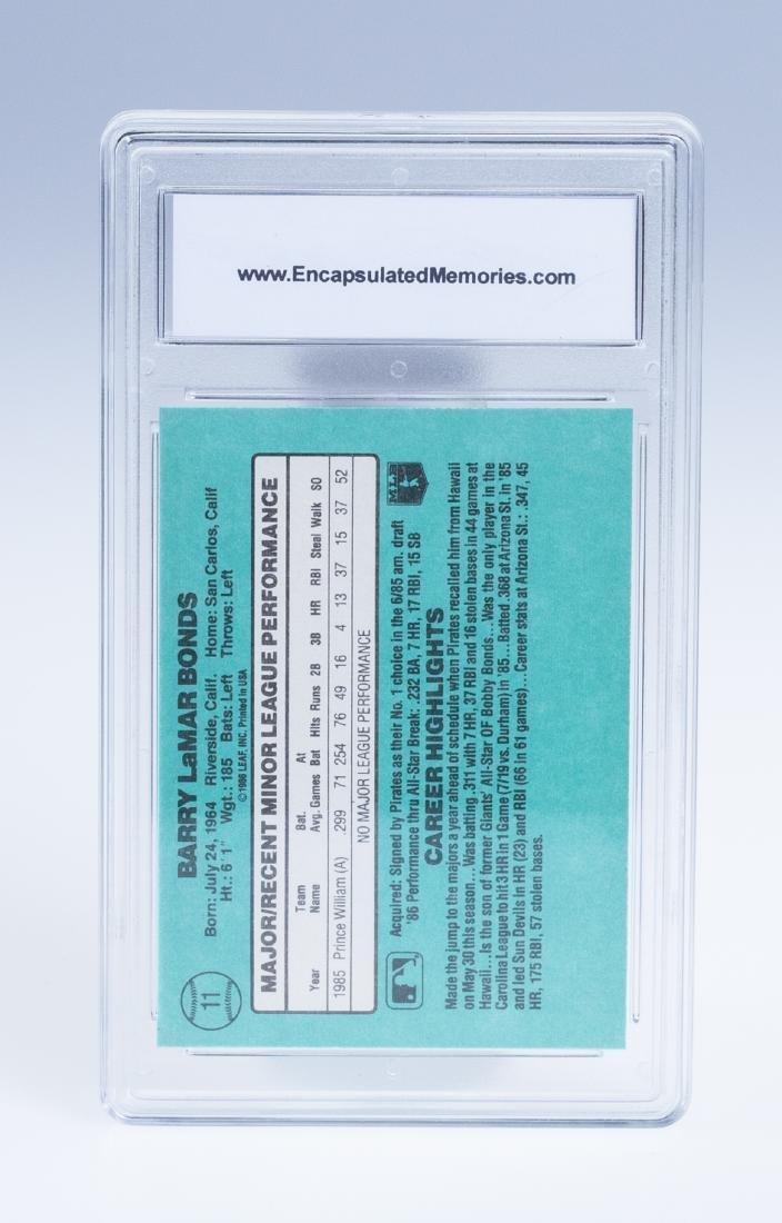 Barry Bonds 1986 Donruss Rookie Baseball Card (Graded) - 2