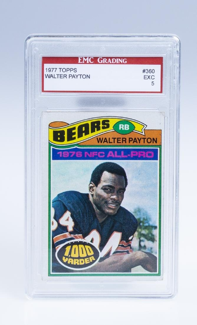 Walter Payton 1977 Football Card (Graded)