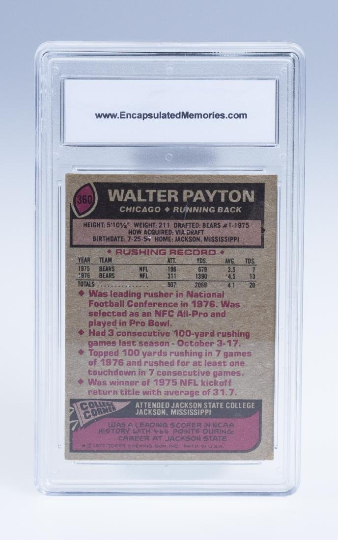 Walter Payton 1977 Football Card (Graded) - 2