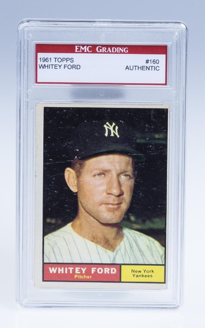 Whitey Ford 1961 Baseball Card (Graded)