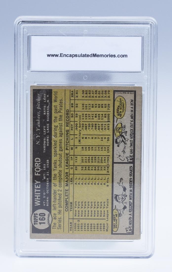 Whitey Ford 1961 Baseball Card (Graded) - 2