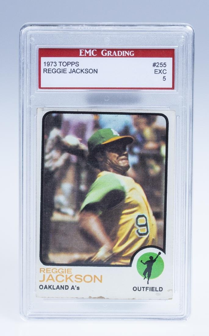 Reggie Jackson 1973 Baseball Card (Graded)