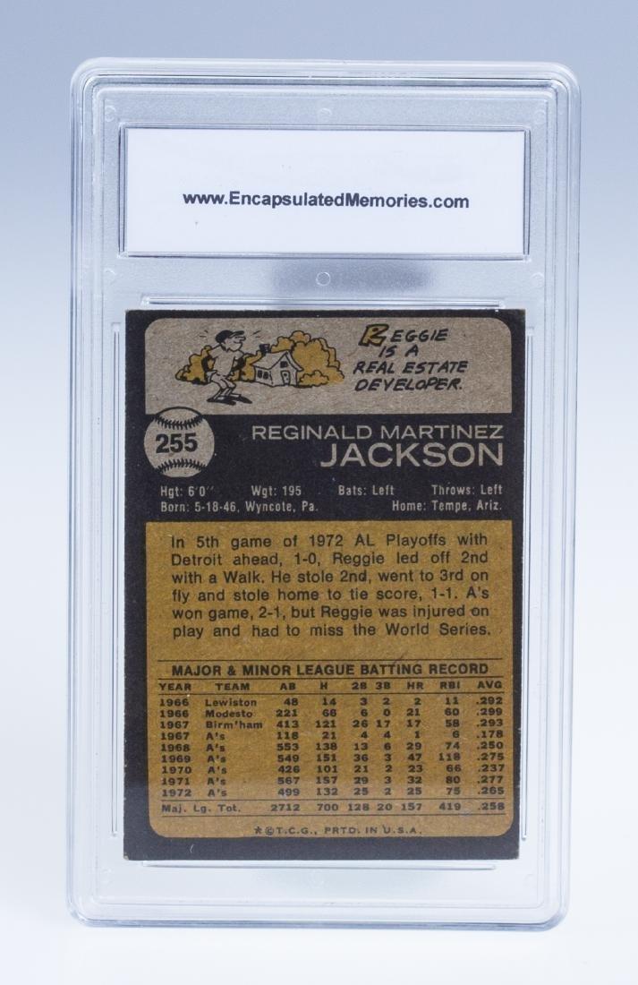 Reggie Jackson 1973 Baseball Card (Graded) - 2