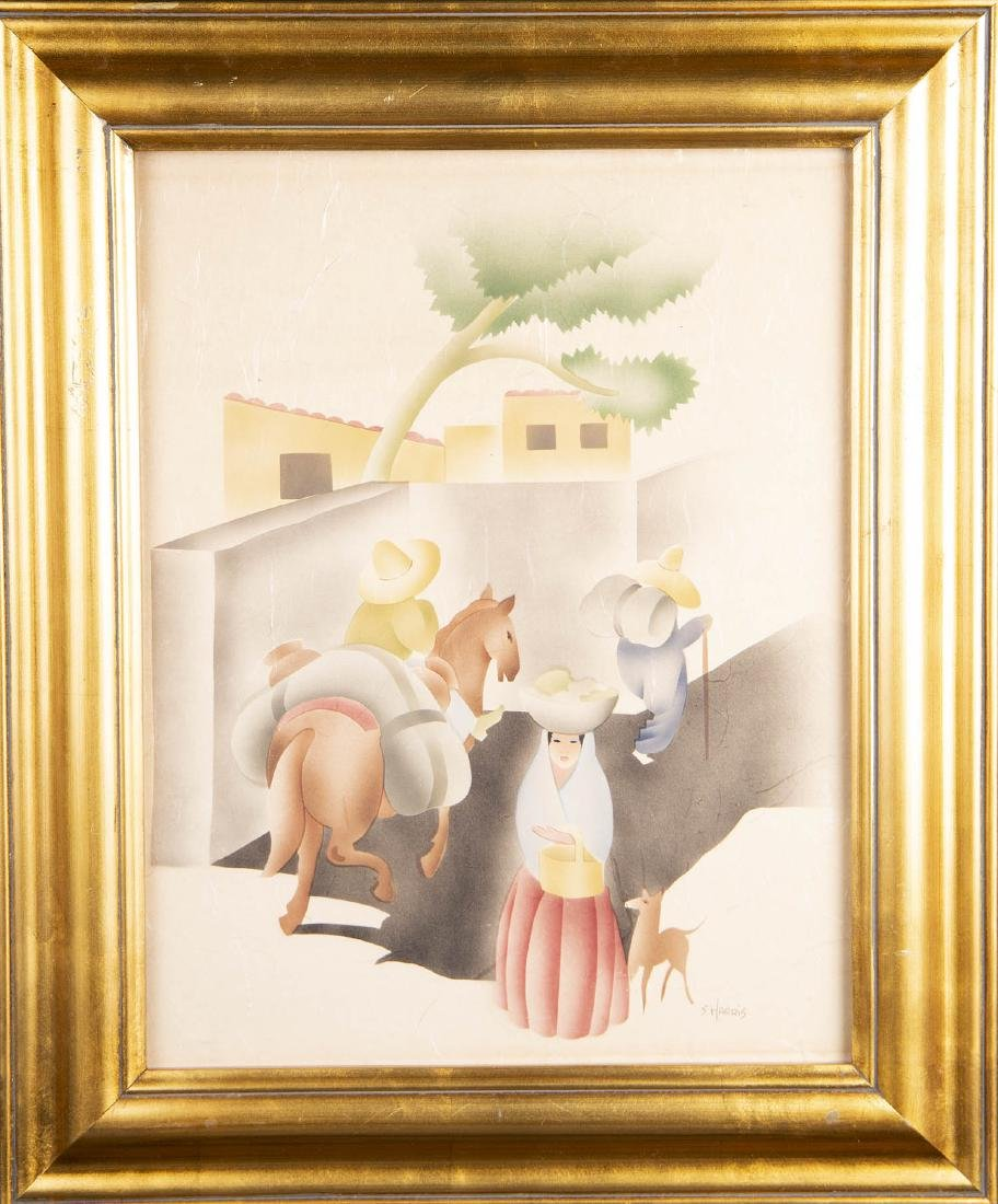 Sam Hyde Harris (American 1889-1977) Watercolor