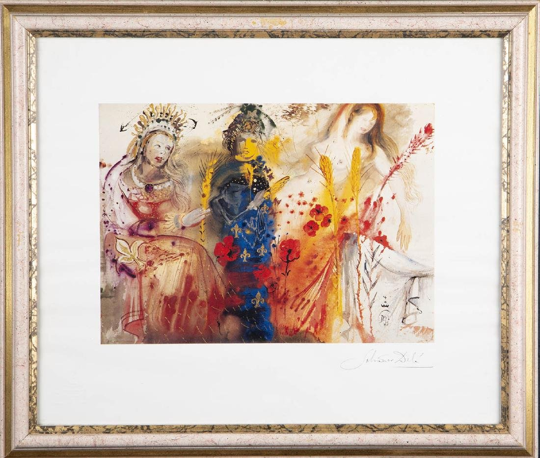 Salvador Dali (Spanish 1904-1989) colored print