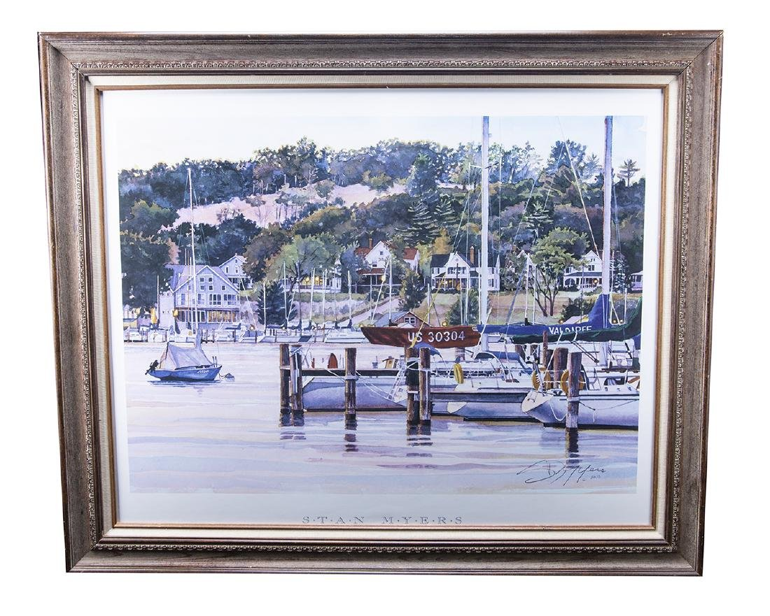 Stan Myers Framed Print (Summer Dusk 1998)