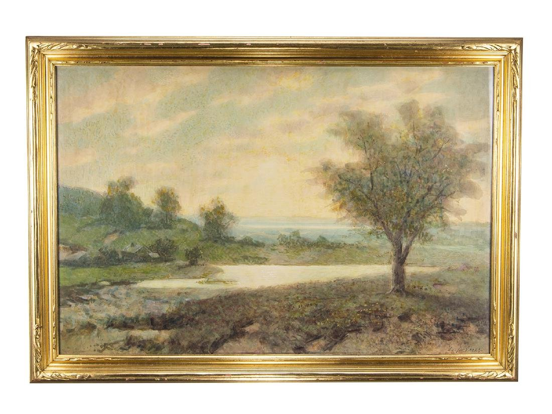 Louis E. Delius Watercolor