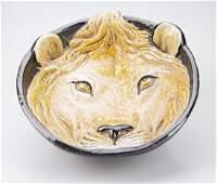 Vintage Italian Lion Bowl