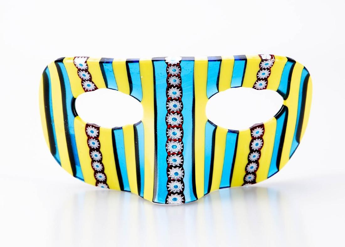 "Murano Glass Carnival Mask, 3"" x 6"""