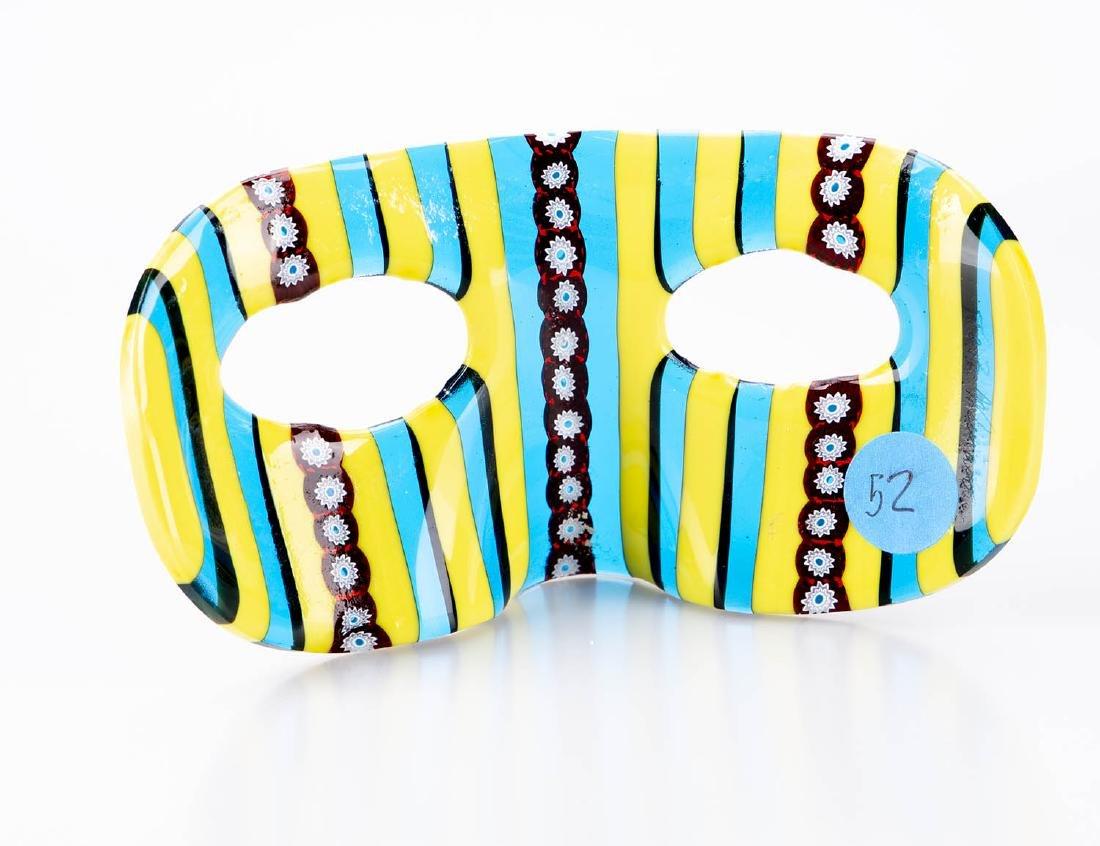 "Murano Glass Carnival Mask, 3"" x 6"" - 2"