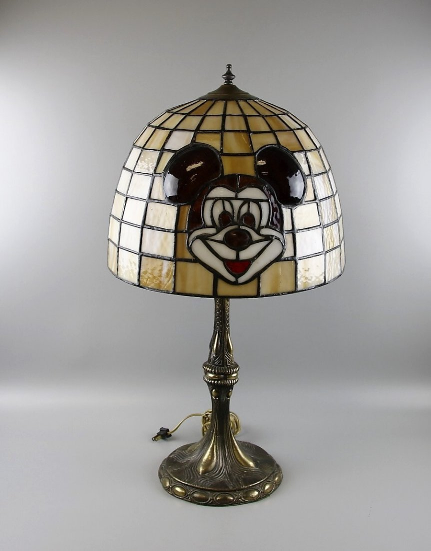 Tiffany Style Mickey Mouse Table Lamp