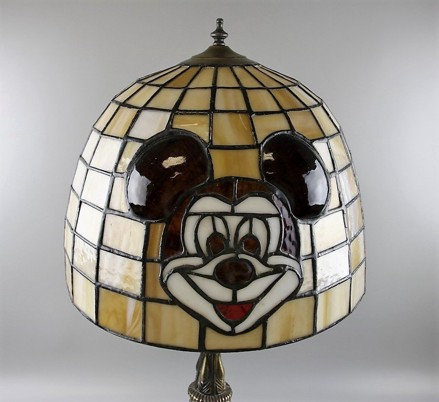 Tiffany Style Mickey Mouse Table Lamp - 6