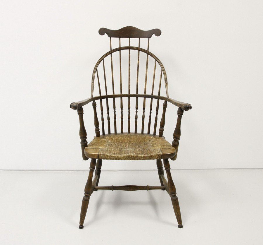 Comb Back Windsor Chair with Cane Bottom