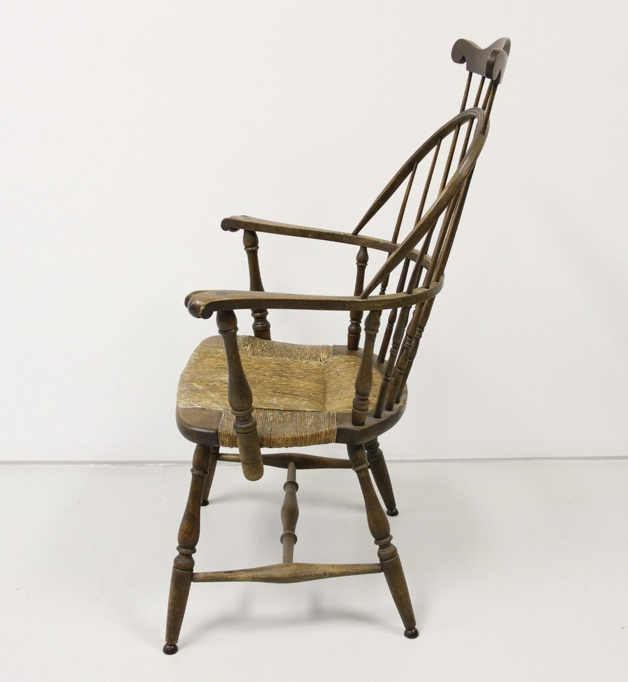 Comb Back Windsor Chair with Cane Bottom - 2