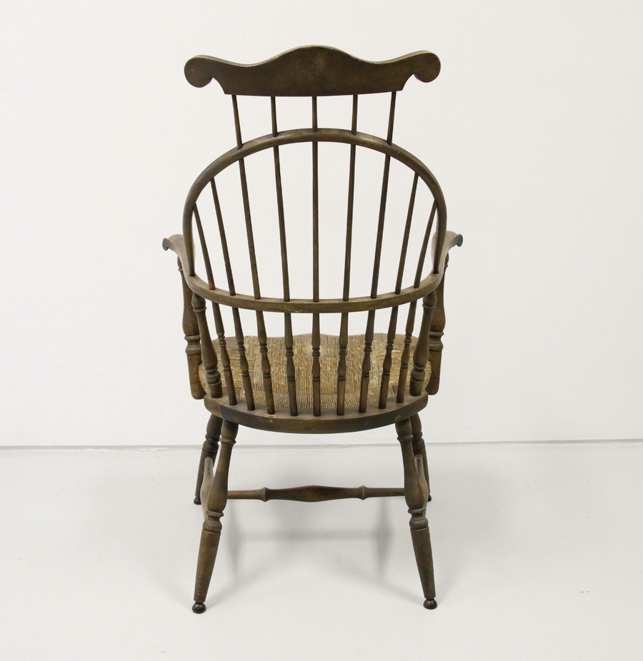 Comb Back Windsor Chair with Cane Bottom - 3
