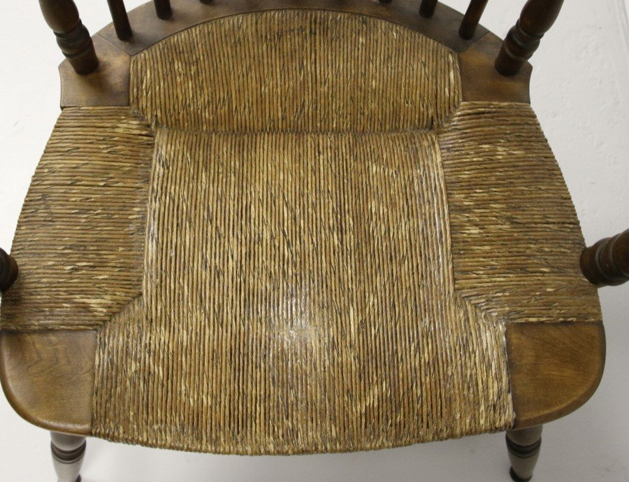 Comb Back Windsor Chair with Cane Bottom - 5