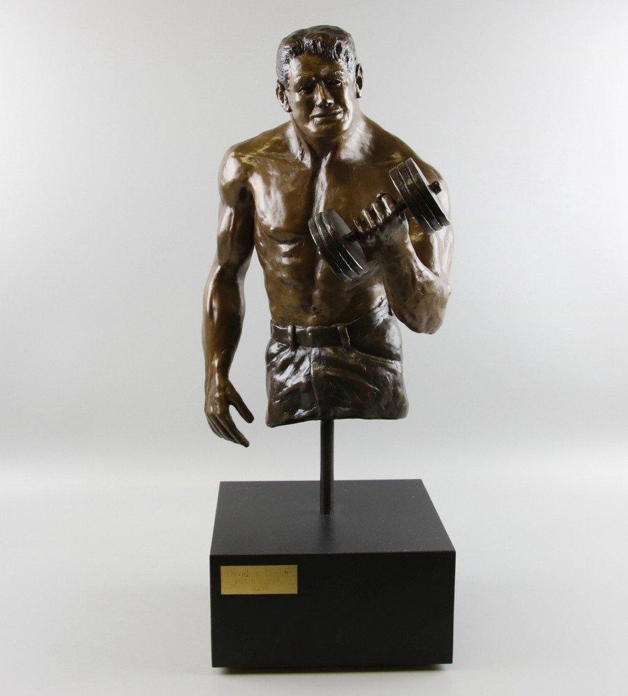 Bronze Sculpture Weightlifter