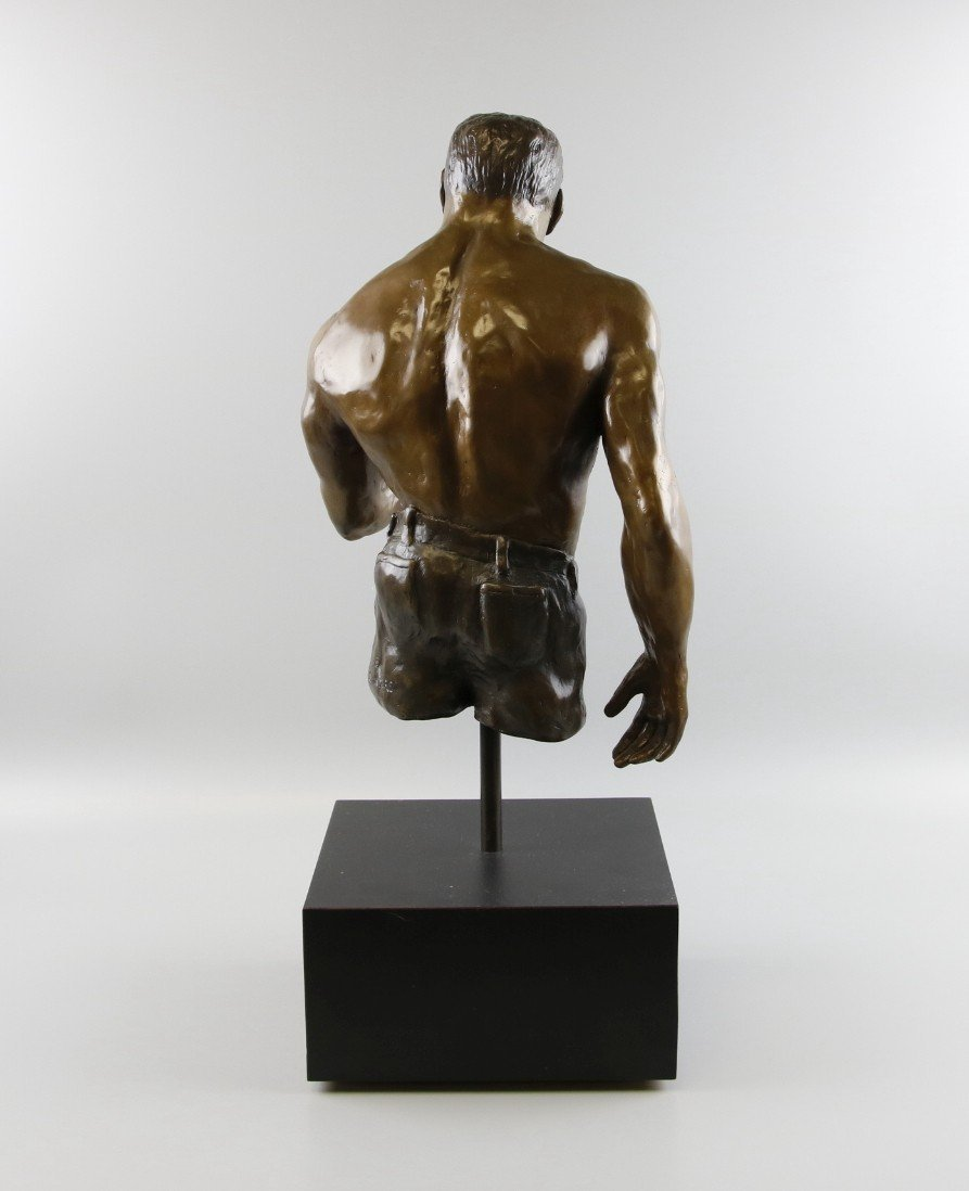 Bronze Sculpture Weightlifter - 3