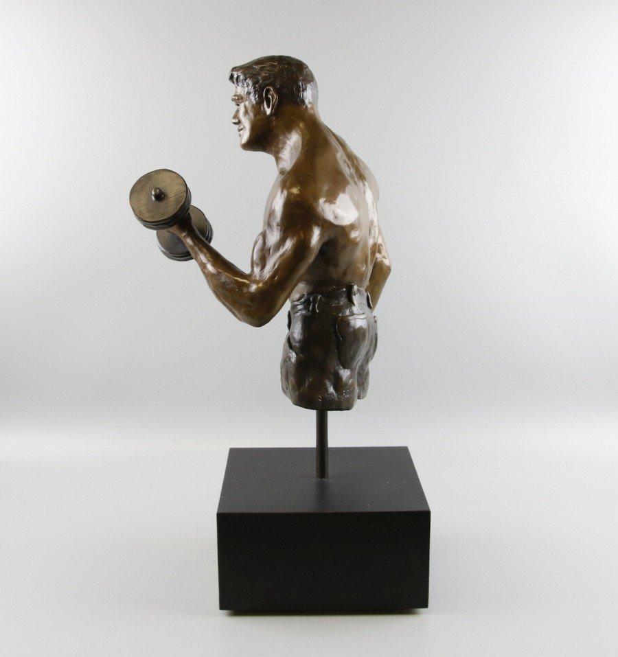 Bronze Sculpture Weightlifter - 4