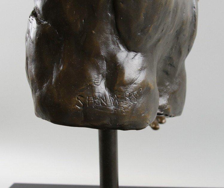 Bronze Sculpture Weightlifter - 5