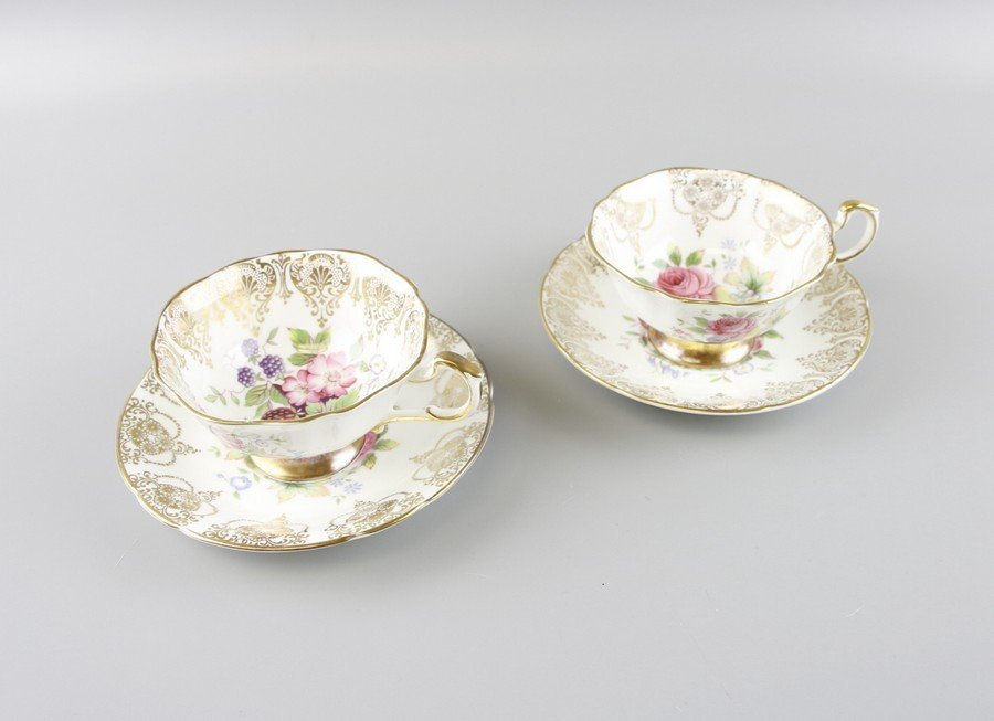 Paragon Fine China Tea Cups & Saucers