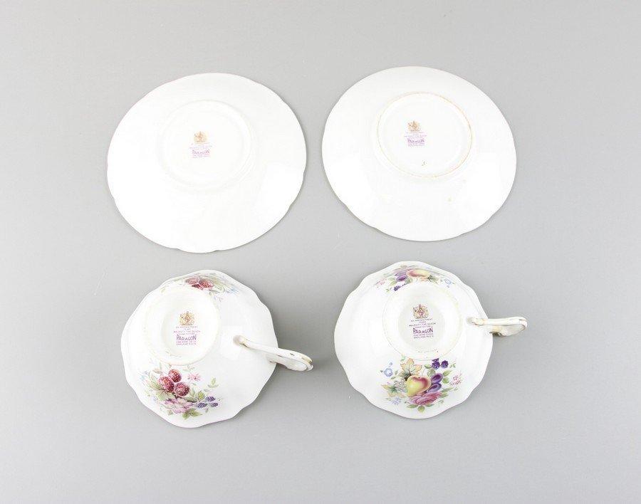 Paragon Fine China Tea Cups & Saucers - 3