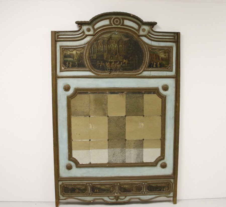 Mirrored Painted Back Board (18th / 19th Century)