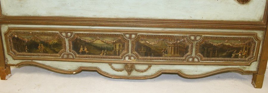 Mirrored Painted Back Board (18th / 19th Century) - 2