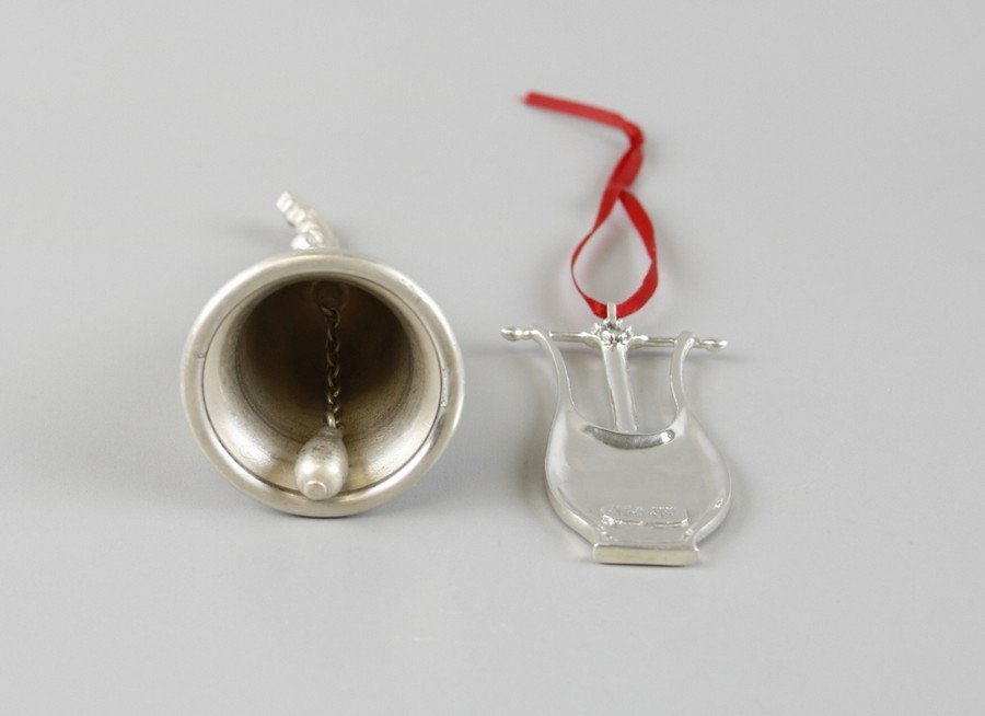 Sterling Silver Bell & Christmas Ornament - 4