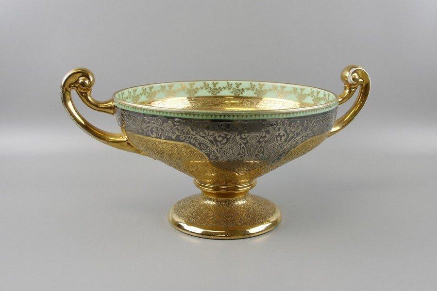 Bohemia 24k Gold Platinum Czech Serving Bowl