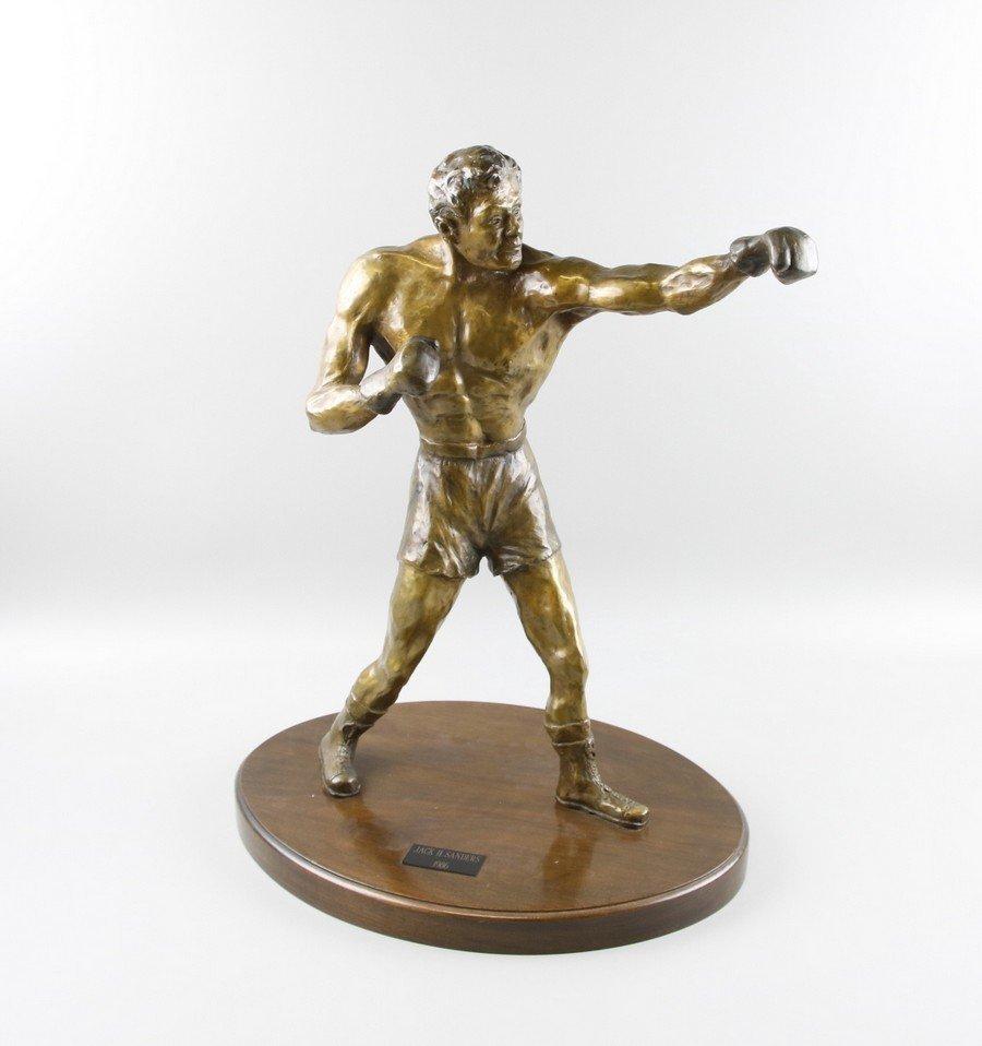Bronze Sculpture Boxer on Stand