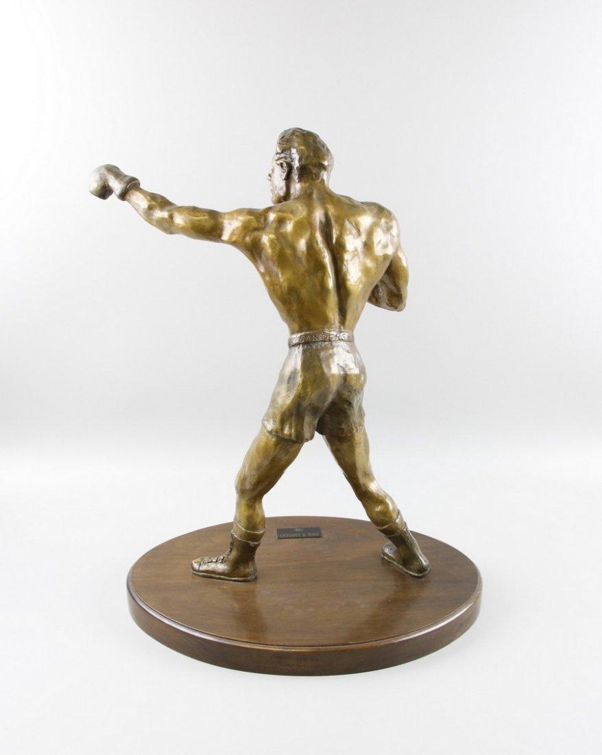 Bronze Sculpture Boxer on Stand - 3