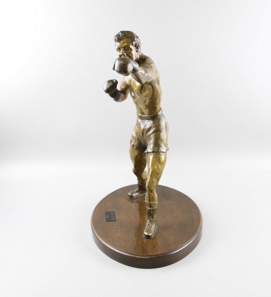 Bronze Sculpture Boxer on Stand - 4