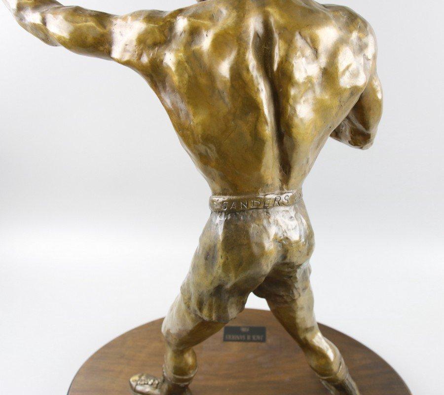 Bronze Sculpture Boxer on Stand - 6