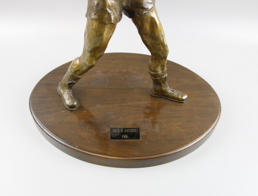 Bronze Sculpture Boxer on Stand - 7