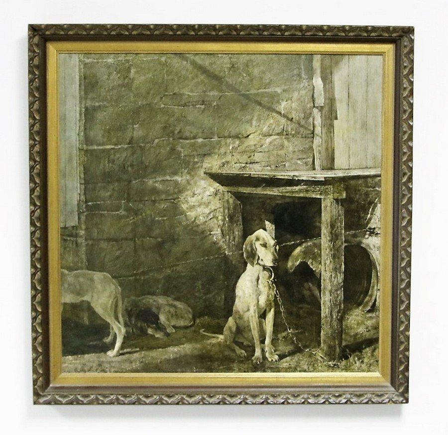 Andrew Wyeth Raccoon Colortype Print