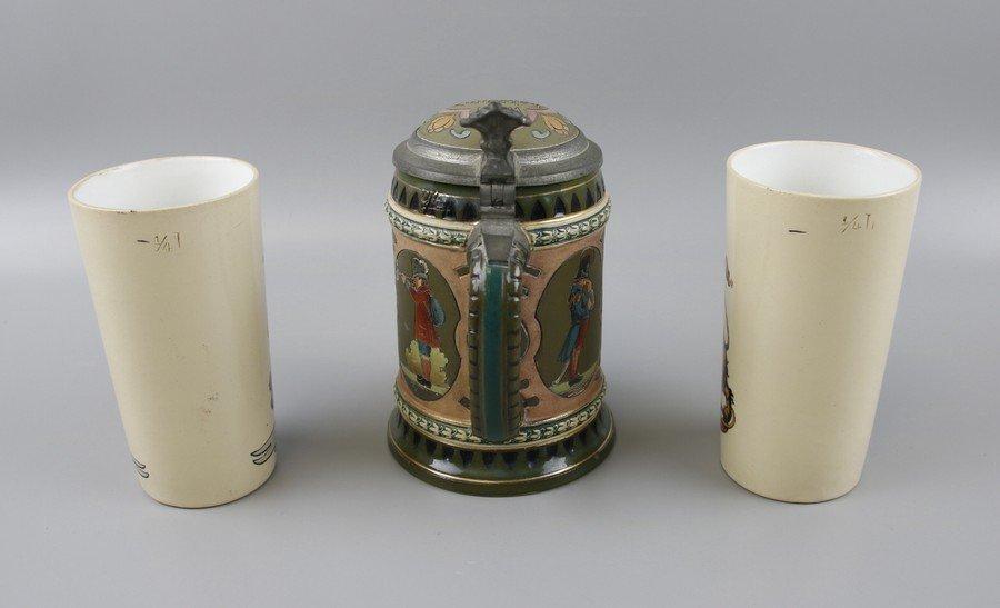 German Beakers and Stein - 2